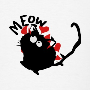 Meow kitty cat iPhone 5 Case - Men's T-Shirt