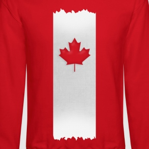 Canadian Maple Leaf on silver stake 4 red apparels Women's T-Shirts - Crewneck Sweatshirt