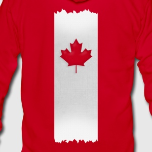 Canadian Maple Leaf on silver stake 4 red apparels Women's T-Shirts - Unisex Fleece Zip Hoodie by American Apparel