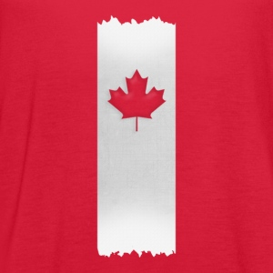 Canadian Maple Leaf on silver stake 4 red apparels Women's T-Shirts - Women's Flowy Tank Top by Bella