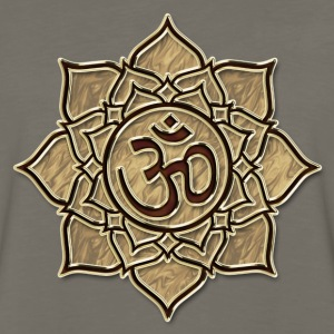 Aum Om Ohm ॐ Lotus transcendent primordial sound T-Shirts - Men's Premium Long Sleeve T-Shirt
