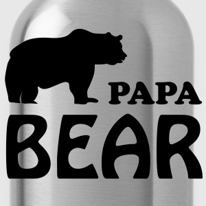 Papa T-Shirt - Papa bear - Water Bottle
