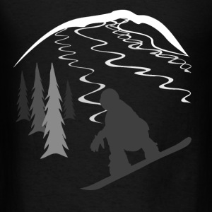 Snowboarder and Tracks Hoodies - Men's T-Shirt