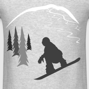 Snowboarder and Tracks Long Sleeve Shirts - Men's T-Shirt