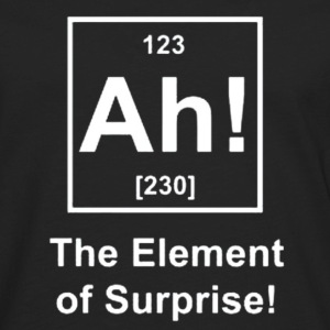 Ah! The Element of Surprise Hoodies - Men's Premium Long Sleeve T-Shirt