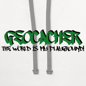 Geocacher...The World is My Playground - Contrast Hoodie