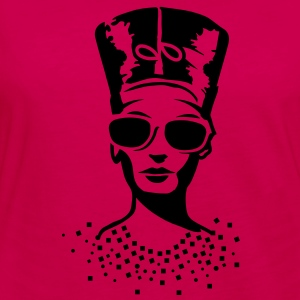 A woman wearing sunglasses with Nefertiti hat Hoodies - Women's Premium Long Sleeve T-Shirt