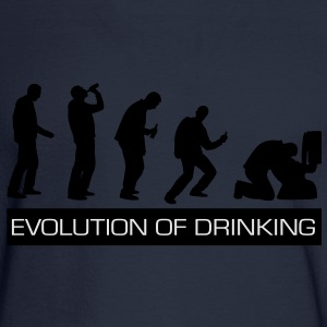Evolution of Drinking - Men's Long Sleeve T-Shirt