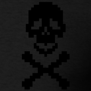 Pirate pixel art crossed bones Zip Hoodies/Jackets - Men's T-Shirt