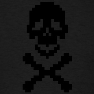 Pirate pixel art crossed bones Hoodies - Men's T-Shirt
