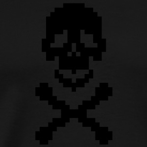 Pirate pixel art crossed bones Hoodies - Men's Premium T-Shirt