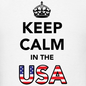 Keep Calm in the USA Long Sleeve Shirts - Men's T-Shirt