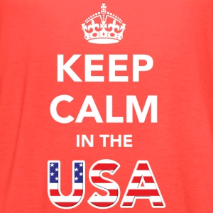 Keep Calm in the USA Women's T-Shirts - Women's Flowy Tank Top by Bella