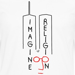 Imagine NO Religion by Tai's Tees - Men's Premium Long Sleeve T-Shirt
