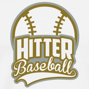 BASEBALL hitter_4light_2c Hoodies - Men's Premium T-Shirt