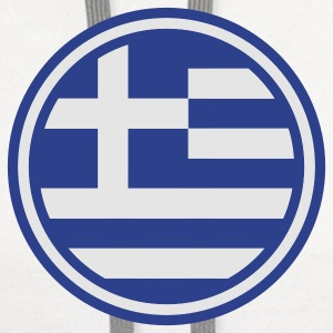 greece flag Accessories - Contrast Hoodie