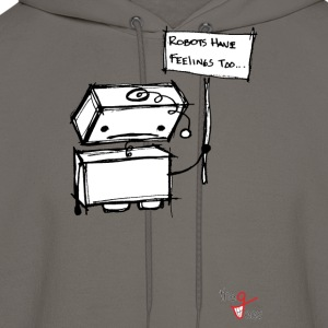 Robots with Feelings T-Shirts - Men's Hoodie