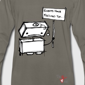 Robots with Feelings T-Shirts - Men's Premium Long Sleeve T-Shirt