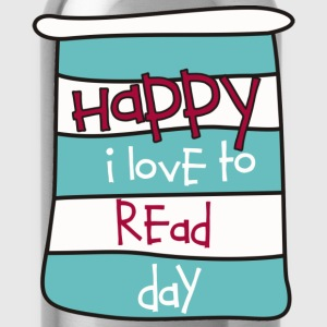 Happy I Love to Read Day Women's T-Shirts - Water Bottle