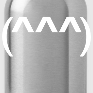 shark symbol emoticon - Water Bottle