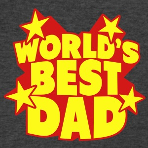 World's best Dad Tanks - Men's V-Neck T-Shirt by Canvas