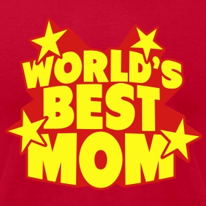 World's best Mom Tanks - Men's T-Shirt by American Apparel