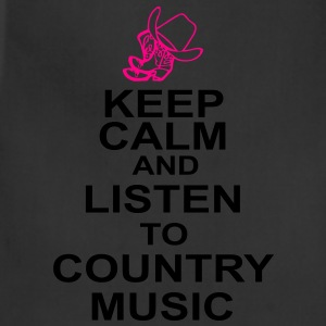 keep_calm_and_listen_to_the_country_music Women's T-Shirts - Adjustable Apron