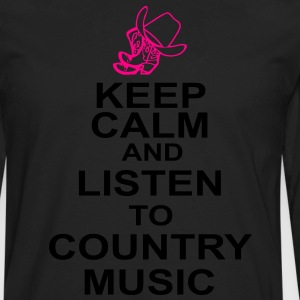 keep_calm_and_listen_to_the_country_music Hoodies - Men's Premium Long Sleeve T-Shirt