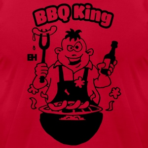 BBQ King Hoodies - Men's T-Shirt by American Apparel