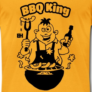 BBQ King Bags  - Men's T-Shirt by American Apparel