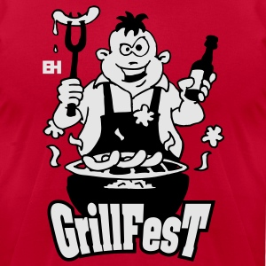 GrillFest Hoodies - Men's T-Shirt by American Apparel