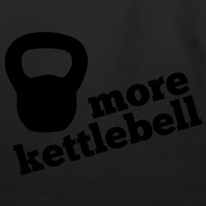 More Kettlebell - Black - Eco-Friendly Cotton Tote