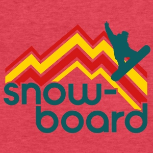 snowboard Tanks - Fitted Cotton/Poly T-Shirt by Next Level