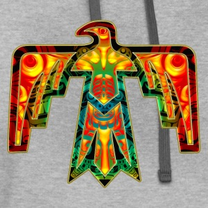 Sacred Thunderbird - symbol power &  strength Women's T-Shirts - Contrast Hoodie