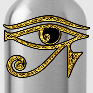 Eye of Horus reverse Moon eye of Thot  I T-Shirts - Water Bottle