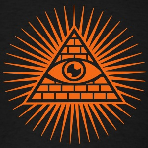 Eye in the Pyramid - symbol of Omniscience Long Sleeve Shirts - Men's T-Shirt