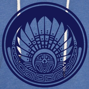 Crop circle - Vector- Mayan mask - Silbury Hill 2009 - Quetzalcoatl - Native Americans - Aztec - Venus - 2012 - New Age / T-Shirts - Unisex Lightweight Terry Hoodie
