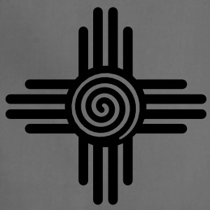 Zia Sun Spiral, Zia Pueblo, New  Mexico, Sun Symbol, SVG,  T-Shirts - Adjustable Apron