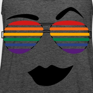 Rainbow Shades T-Shirts - Women's Flowy Tank Top by Bella