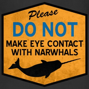Eye Contact with Narwhals - Vintage Women's T-Shirts - Adjustable Apron
