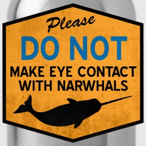 Eye Contact with Narwhals - Vintage Women's T-Shirts - Water Bottle