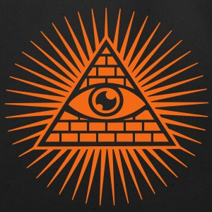Eye in the Pyramid - symbol of Omniscience Hoodies - Eco-Friendly Cotton Tote