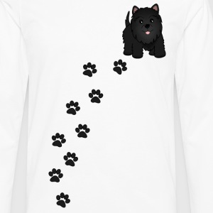 Cute Black Scottish Terrier Puppy Dog - Men's Premium Long Sleeve T-Shirt