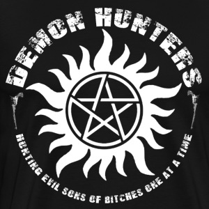 Demon Hunters Colt guns Rocker design white Hoodies - Men's Premium T-Shirt