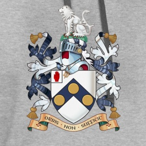 "James Bonds coat-of-arms and family motto ""The w - Contrast Hoodie"