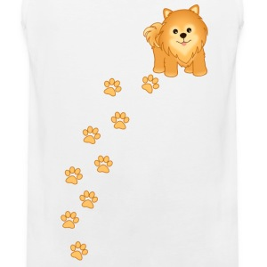 Cute Pomeranian Puppy Dog Cartoon - Men's Premium Tank