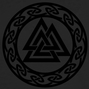 Valknut, Wotan's Knot, Walknot, Odin, Valhalla T-Shirts - Men's Premium Long Sleeve T-Shirt