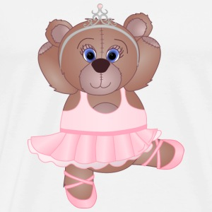 Teddy Bear Ballerina - Men's Premium T-Shirt