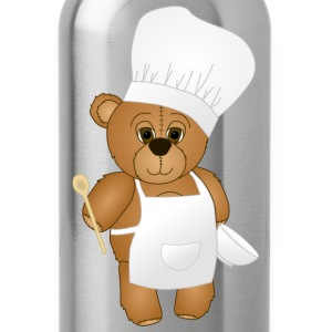 Cute Chef Teddy Bear - Water Bottle