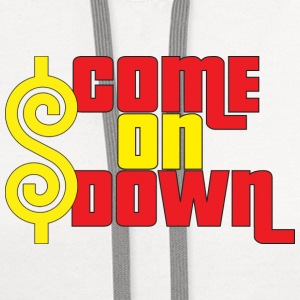 Come On Down Buttons - Contrast Hoodie